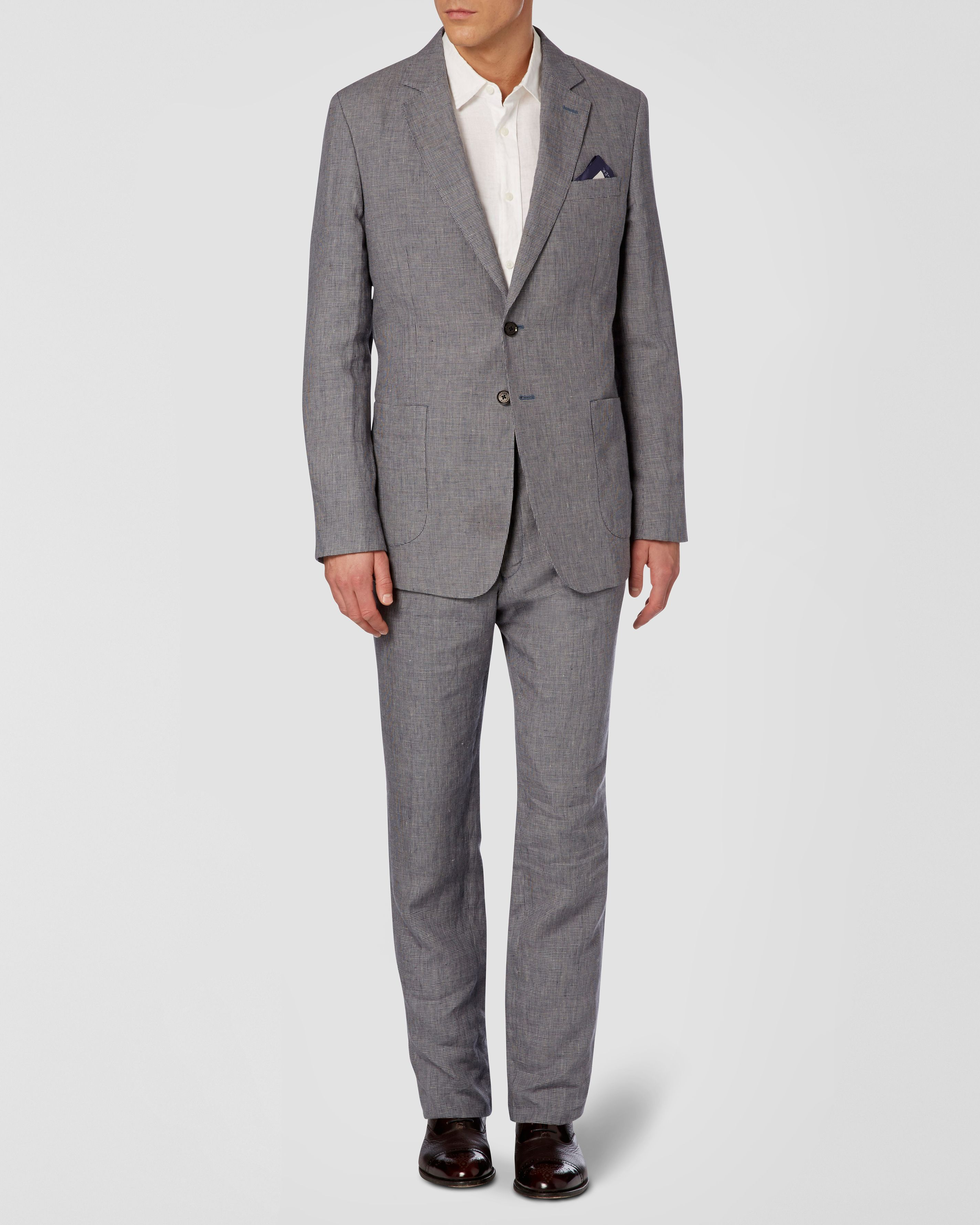 Irish Linen Puppytooth suit Jacket