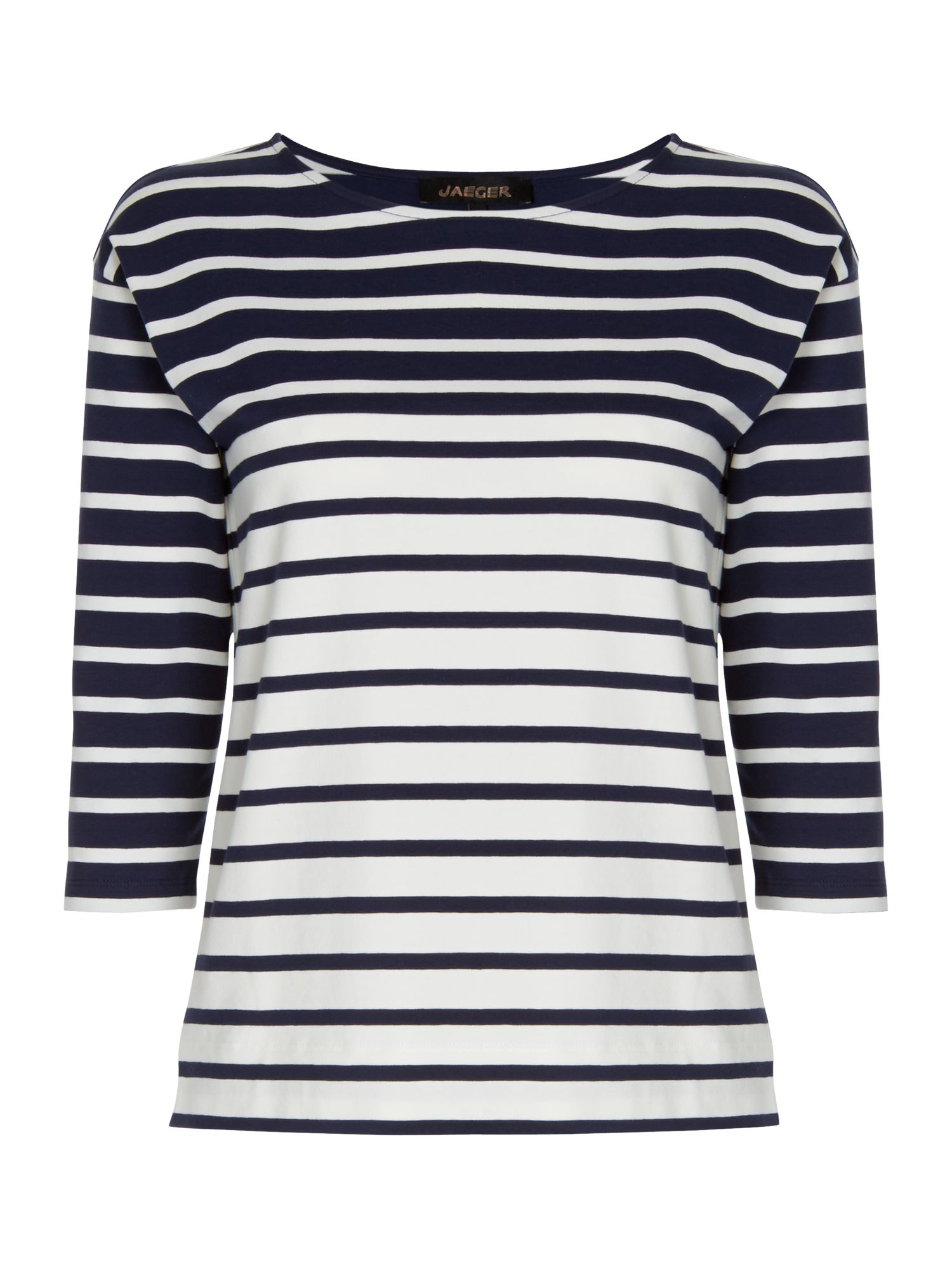 Stripe Patch Pocket Top