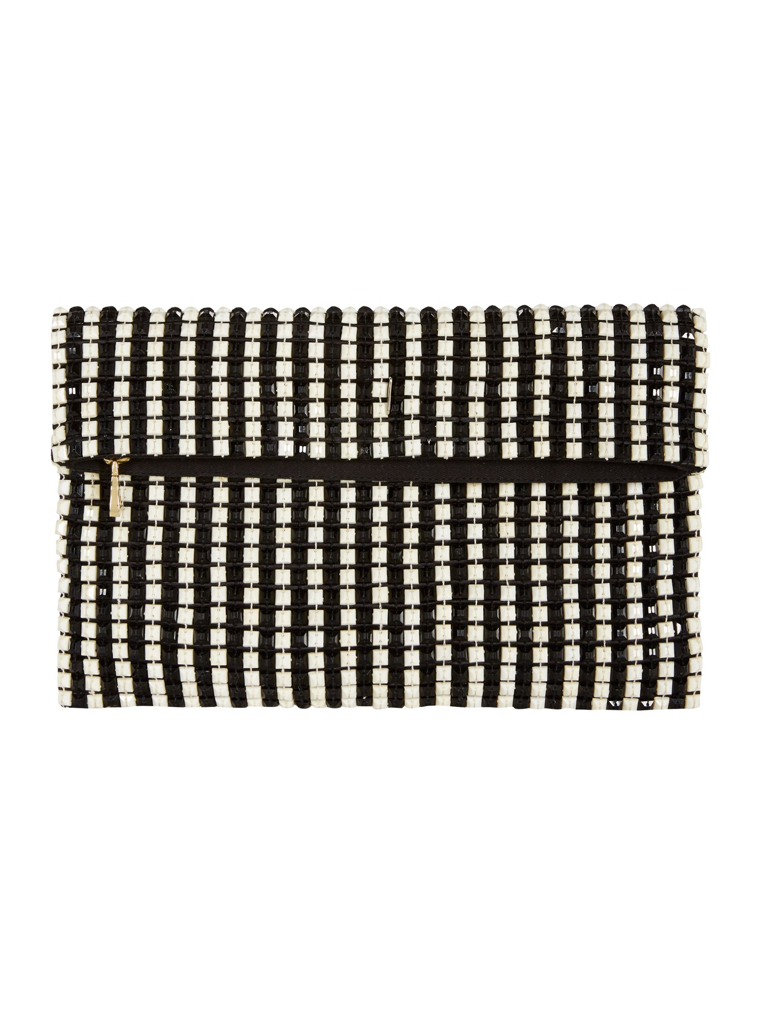Graphic Beaded Clutch
