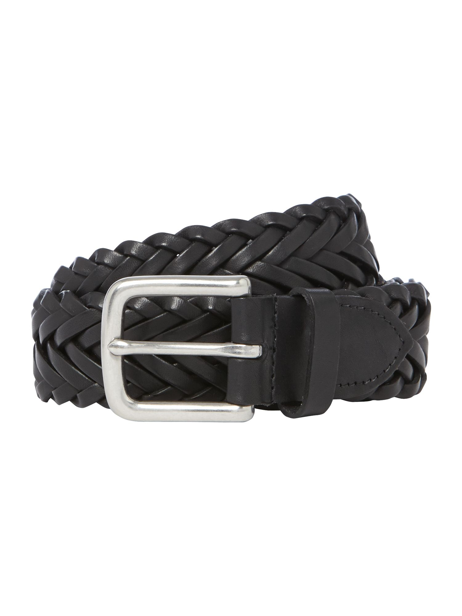 Casual woven leather belt