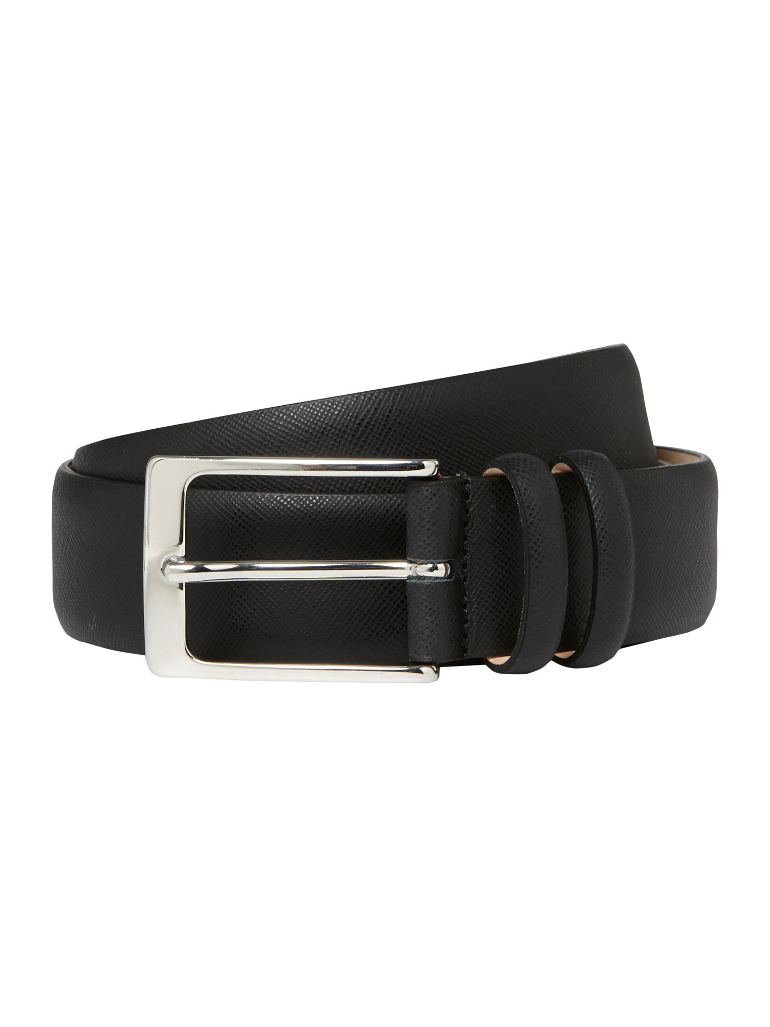 Formal saffiano leather belt