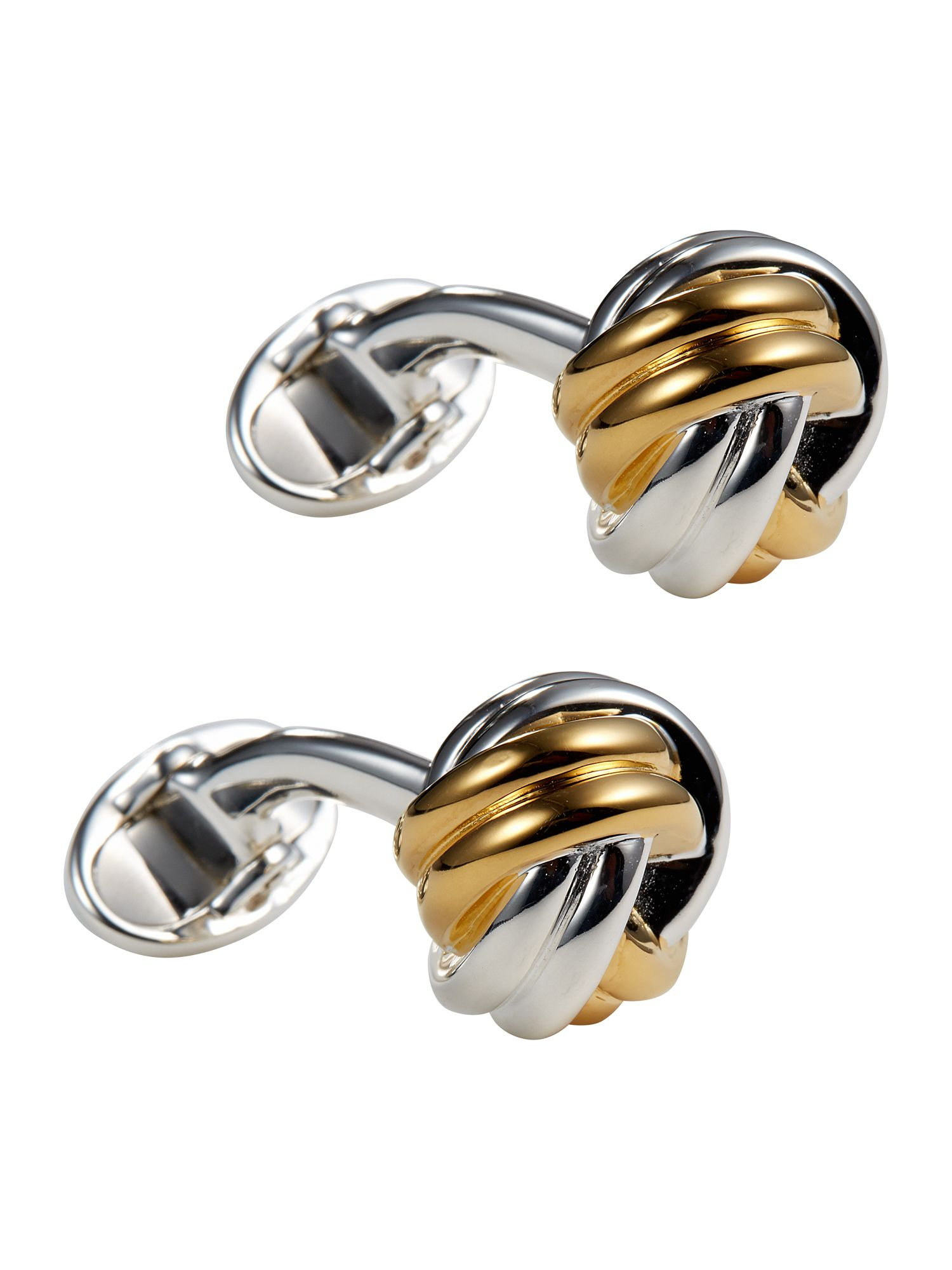 Bi-colour knot cufflink