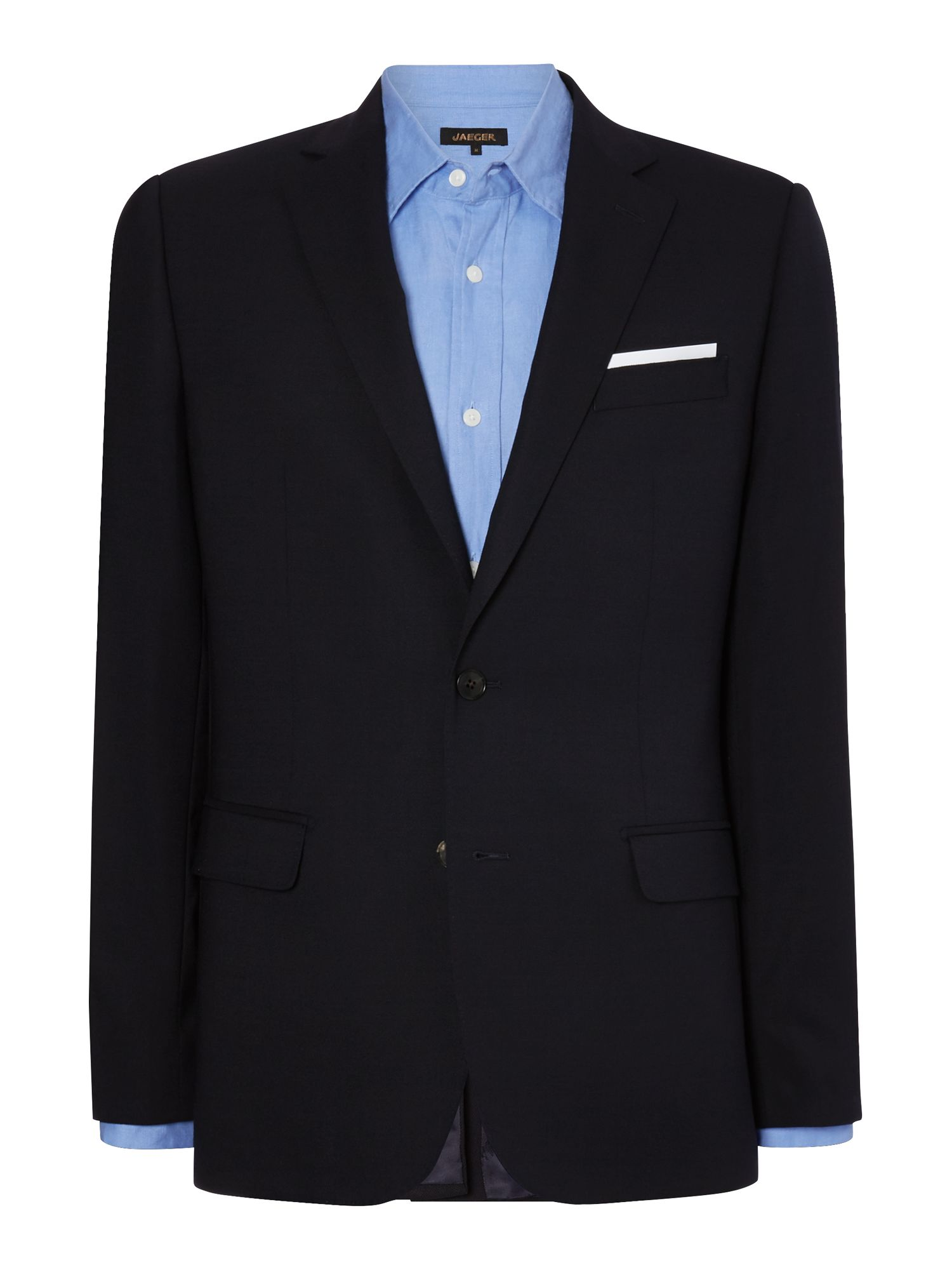 Hopsack notch lapel blazer