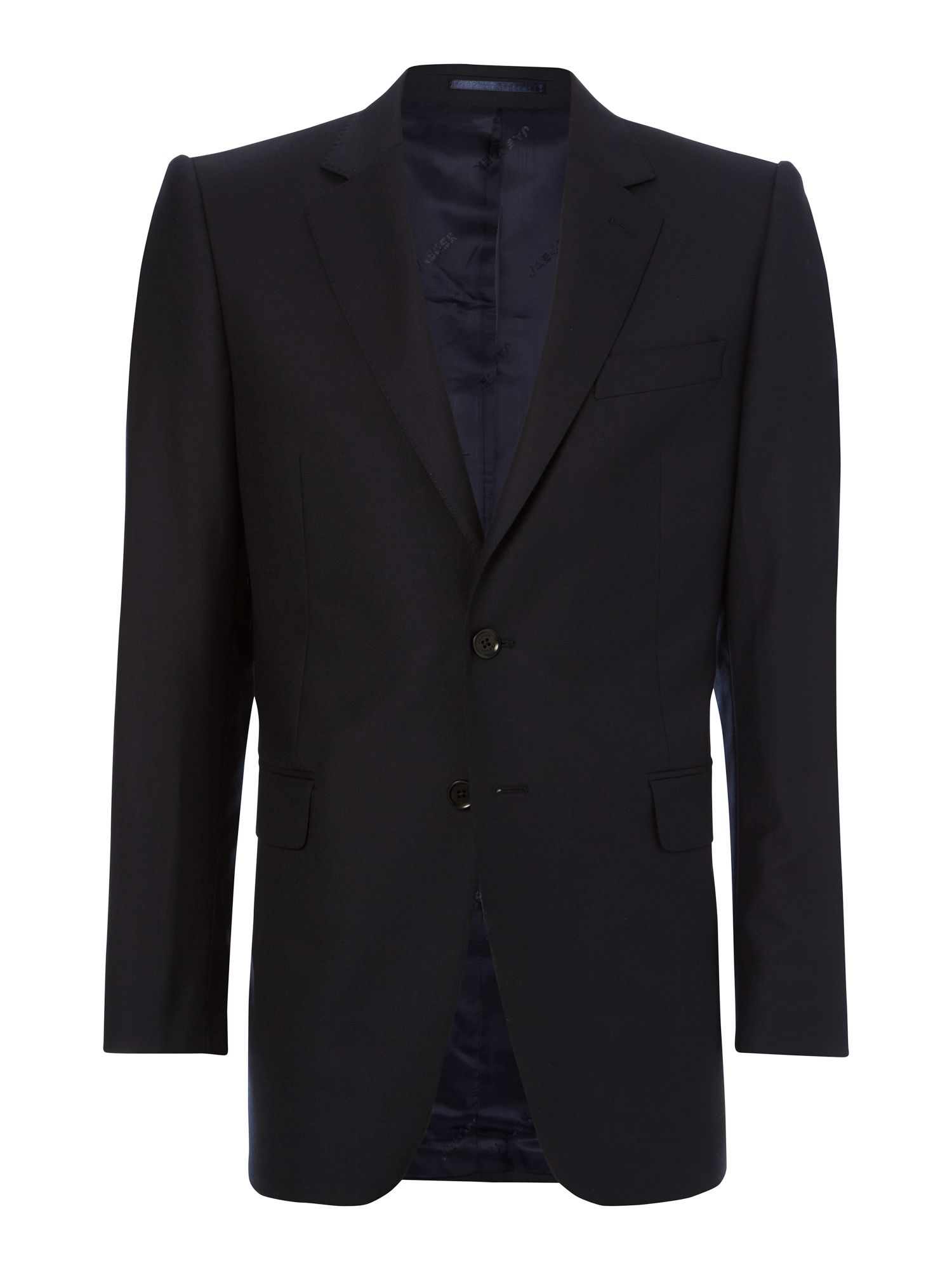 Plain twill single breasted suit jacket