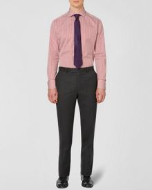 Herringbone formal suit trouser