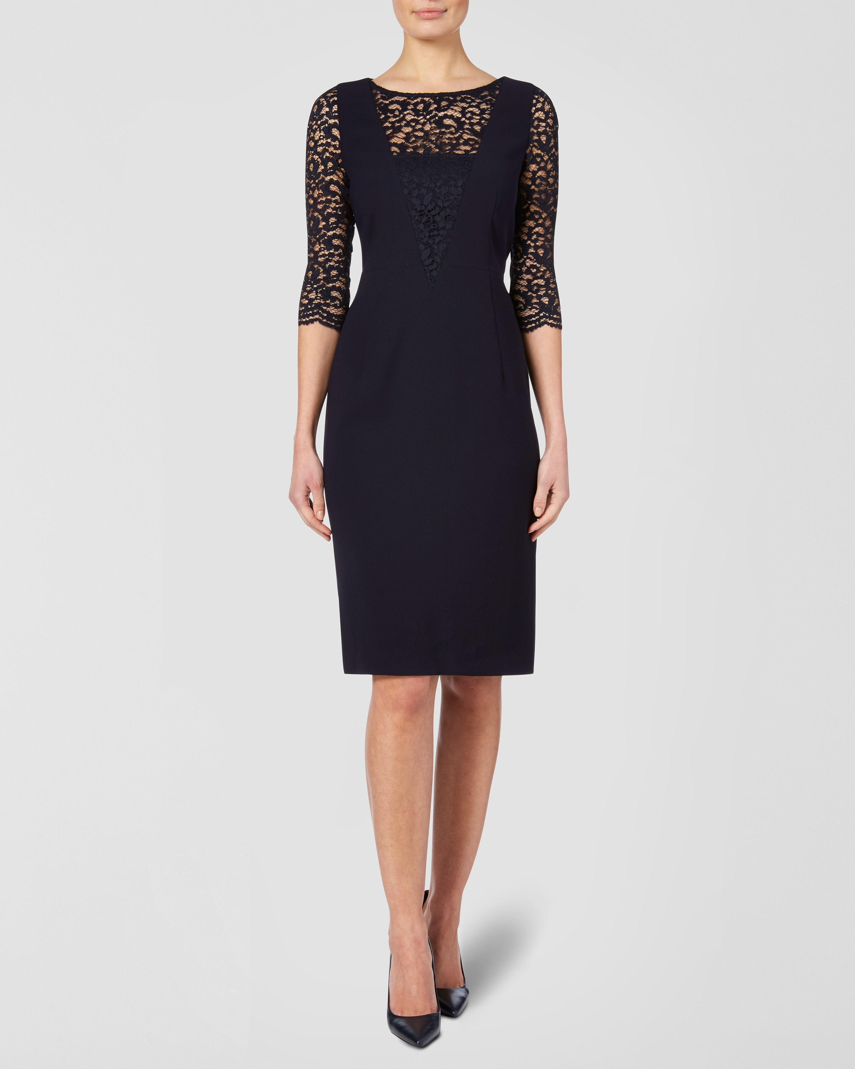 Lace and Crepe Dress