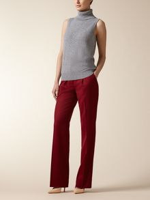Sleeveless Cashmere Roll Neck