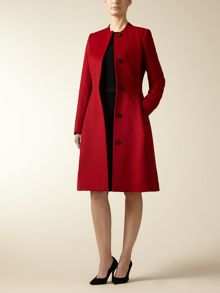 Wool Cashmere Waisted Coat