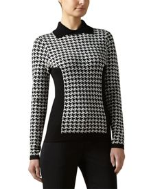 Houndstooth Collared Sweater