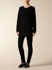 Jaeger: Boucle tipped Long Cardigan