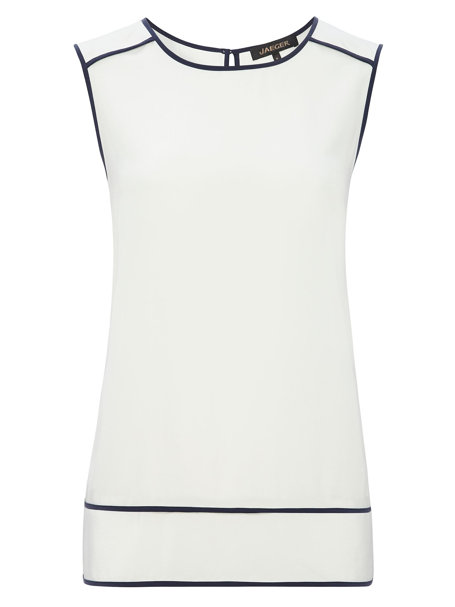 Jaeger: Silk Sleeveless Shell Top