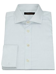 Twill mini windowpane shirt
