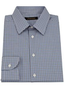 Check modern point collar shirt