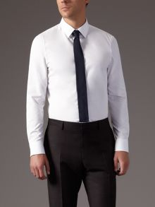 Plain poplin slim fit shirt