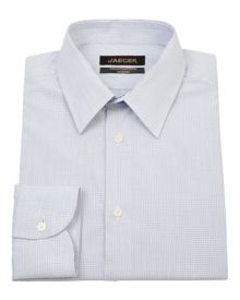 Fine check modern point collar shirt