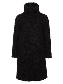 Jaeger: Funnel Curly Boucle Coat