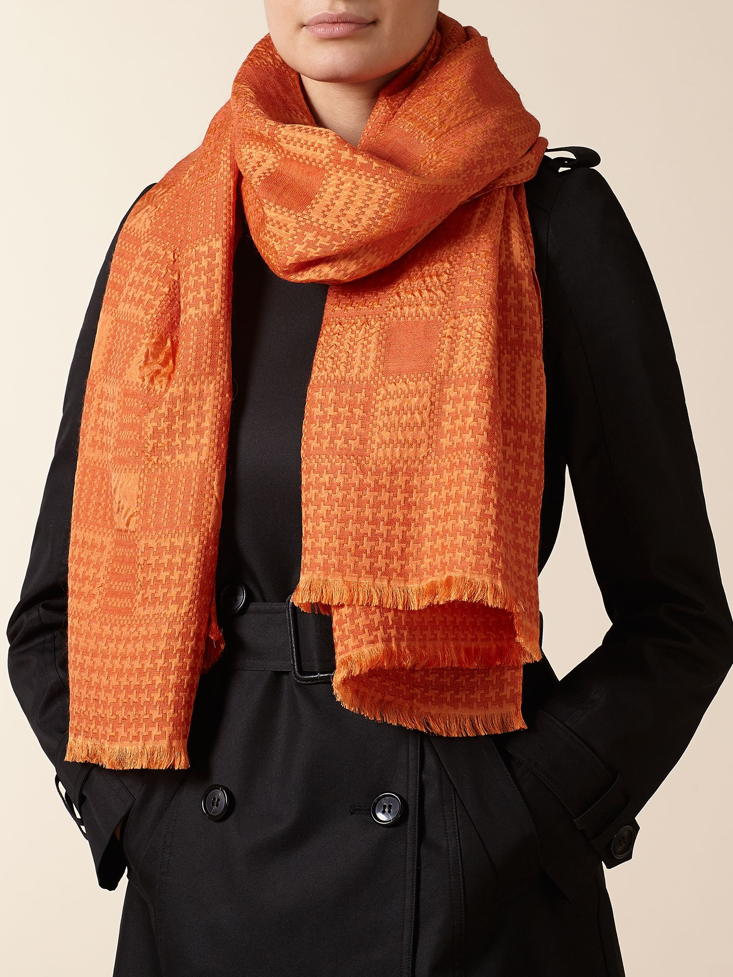 Square and Houndstooth Scarf