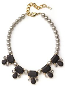 Matt and Crystal Ball Necklace