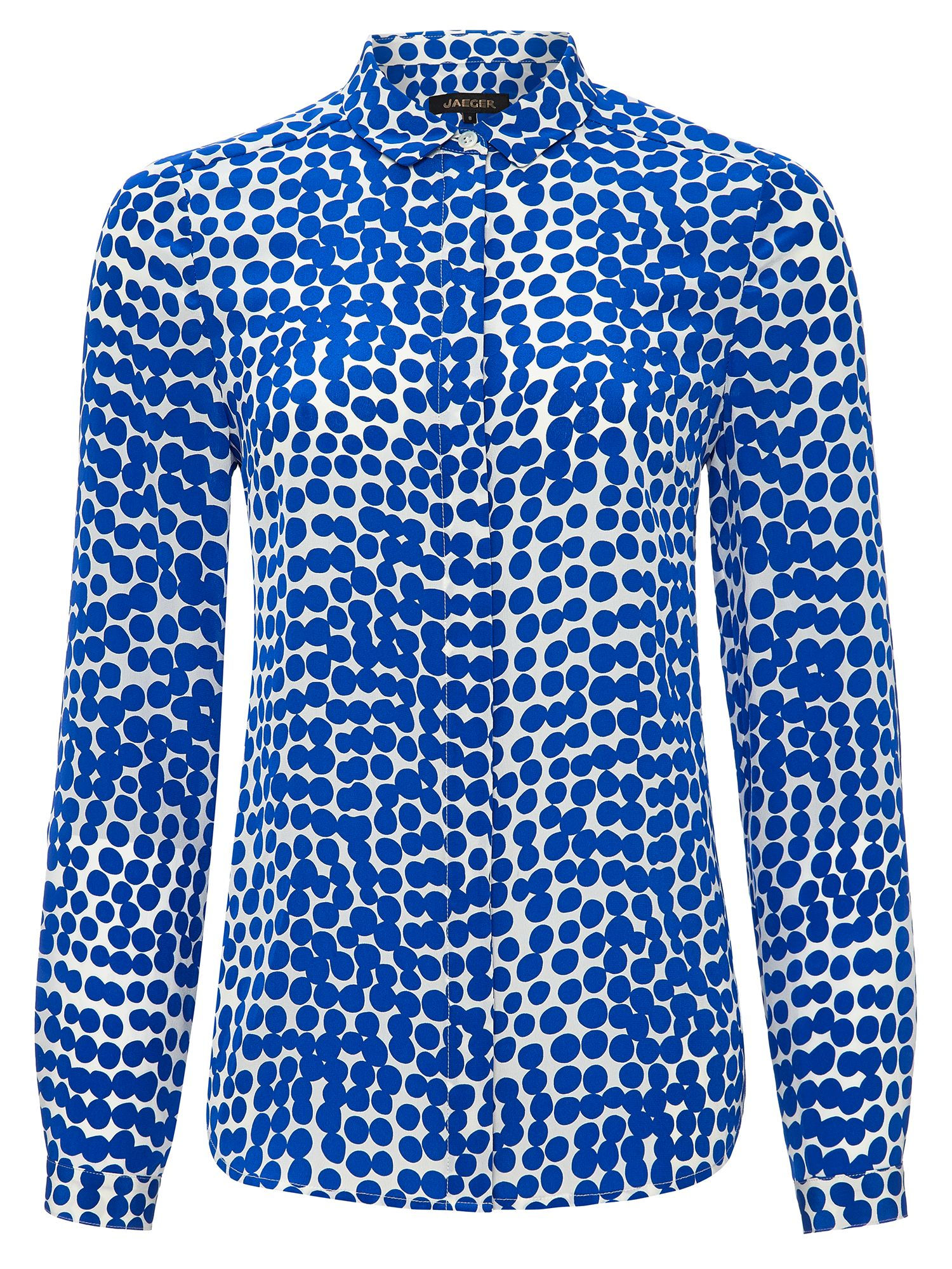 Jaeger: Abstract Spot Silk Blouse