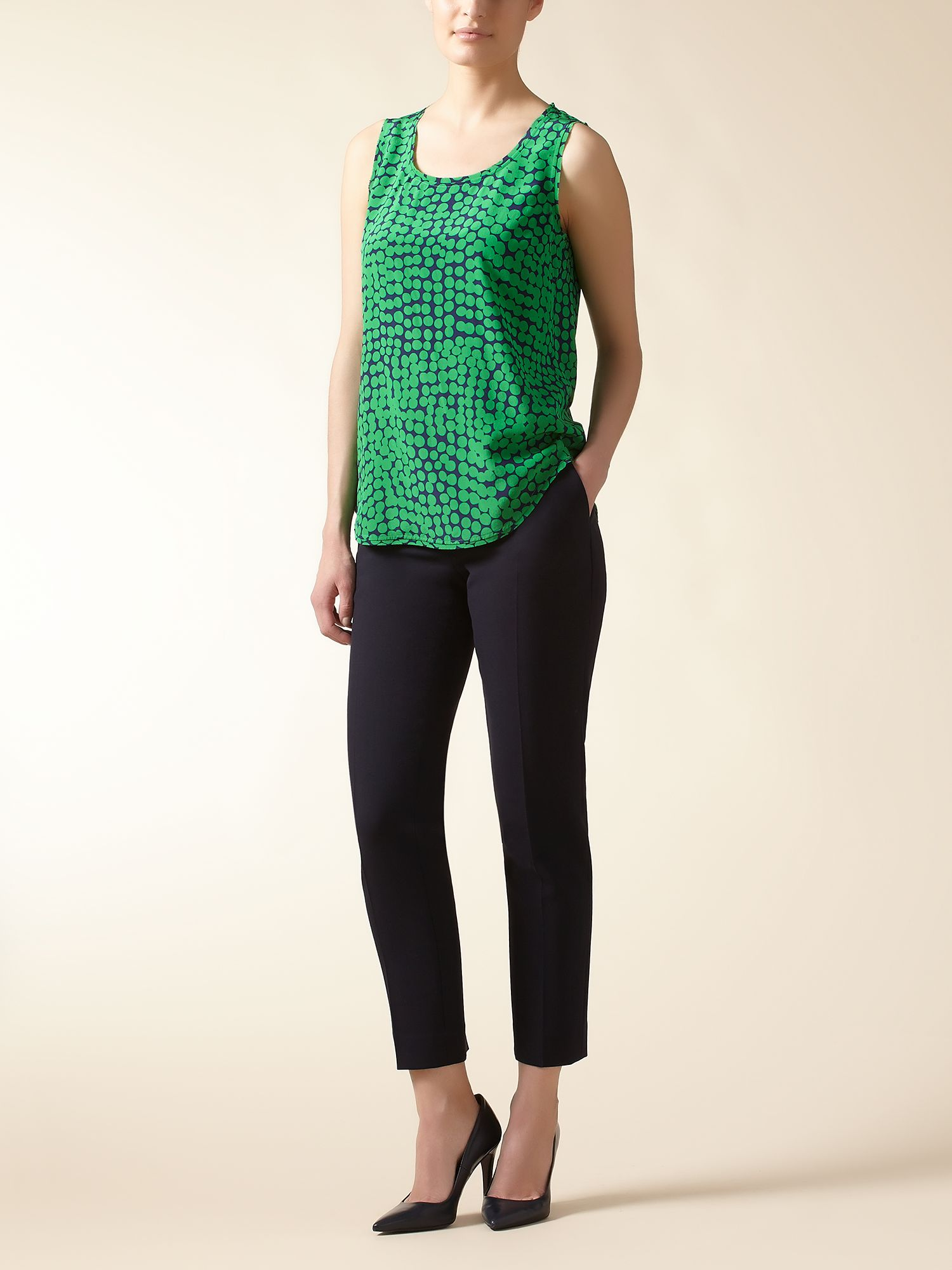 Jaeger: Spot Silk Shell Top