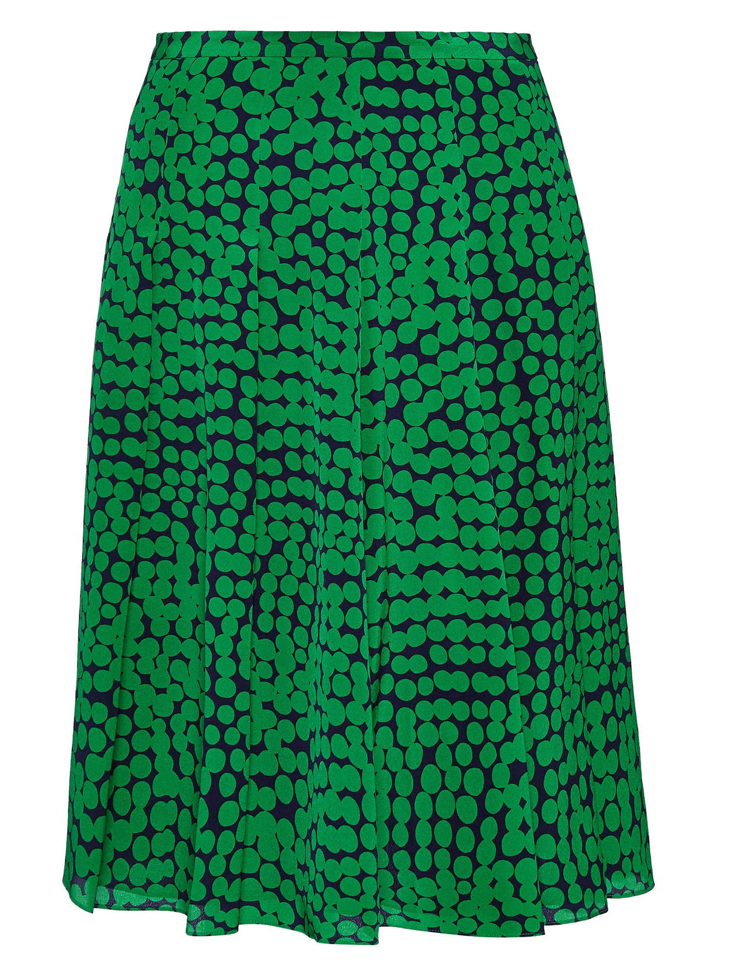 Jaeger: Abstract Spot Pleat Skirt