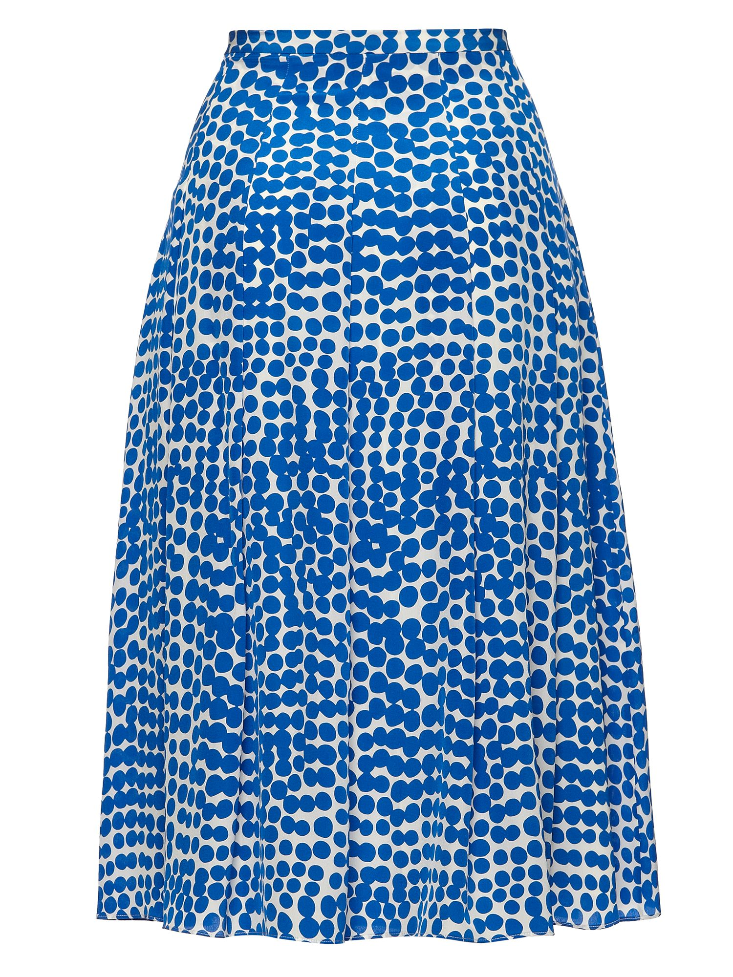 Jaeger: Longer Abstract Silk Skirt