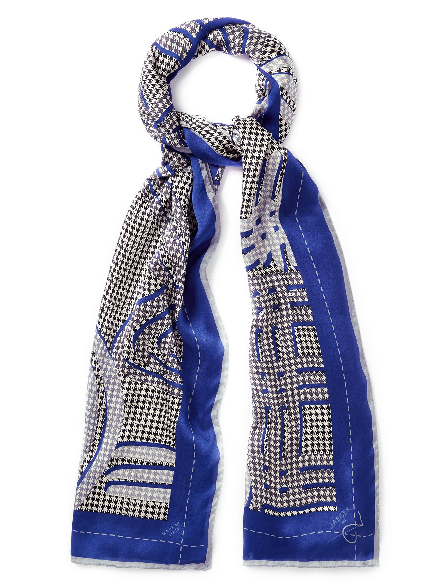 Exploded Alphabet Silk Scarf