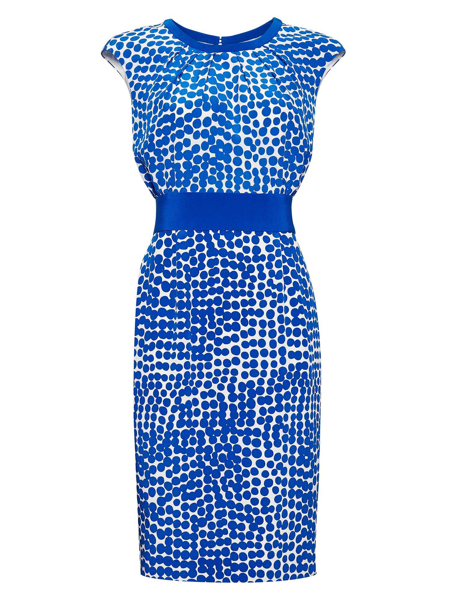 Jaeger: Abstract Print Silk Dress