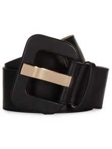 Jaeger: Wide Covered Buckle Waist Belt