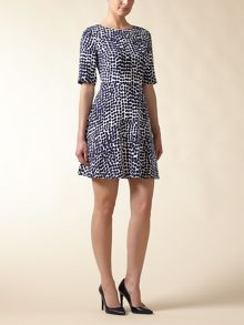 Abstract Spot Flare Dress