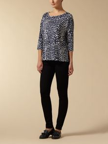 Jaeger: Abstract Spot Print Jersey Top