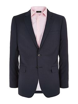 Check Notch Collar Classic Fit Suit Jacket