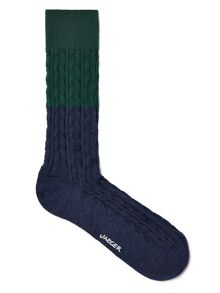 Colour block cable sock