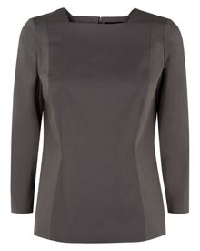 Cotton-blend tailoring top