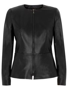Leather Waisted Jacket