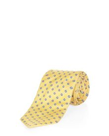 Textural Flower Patterned Tie
