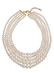 Five Row Pearl Necklace