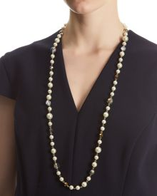 Pearl and Crystal Mix Necklace