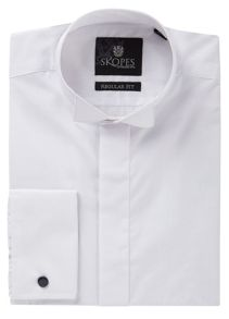 Skopes Wing Collar Plain Dress Shirt