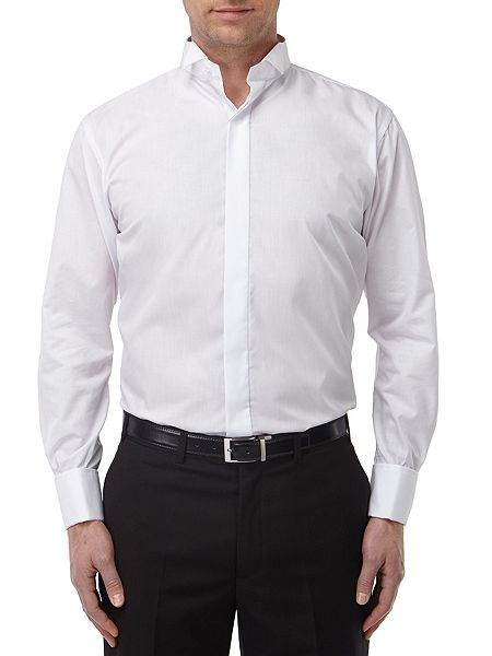 skopes wing collar plain dress shirt house of fraser