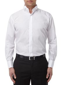 Wing Collar Plain Dress Shirt