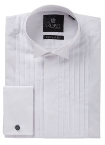 Long sleeve wing collar dress shirt