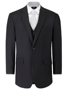 Oslo stripe single breasted suit jacket