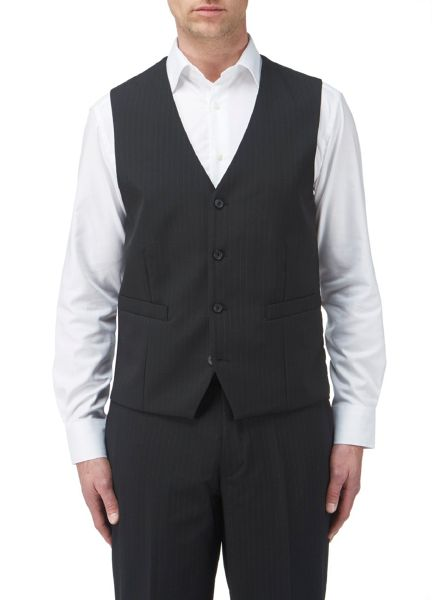 Skopes Ohio stripe single breasted waistcoat