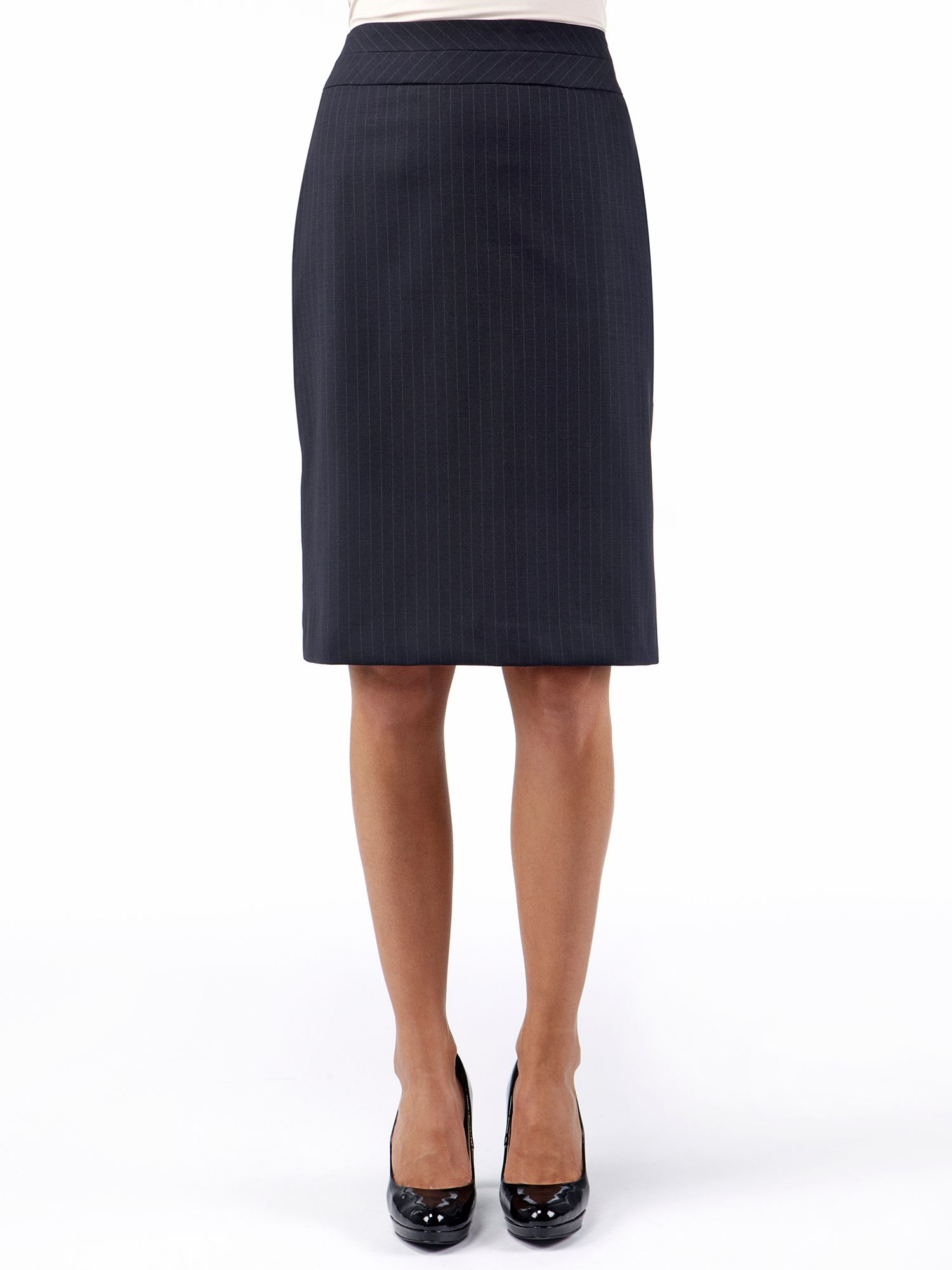 Wool Rich Knee Length Suit Skirt