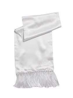 White Satin Dress Scarf
