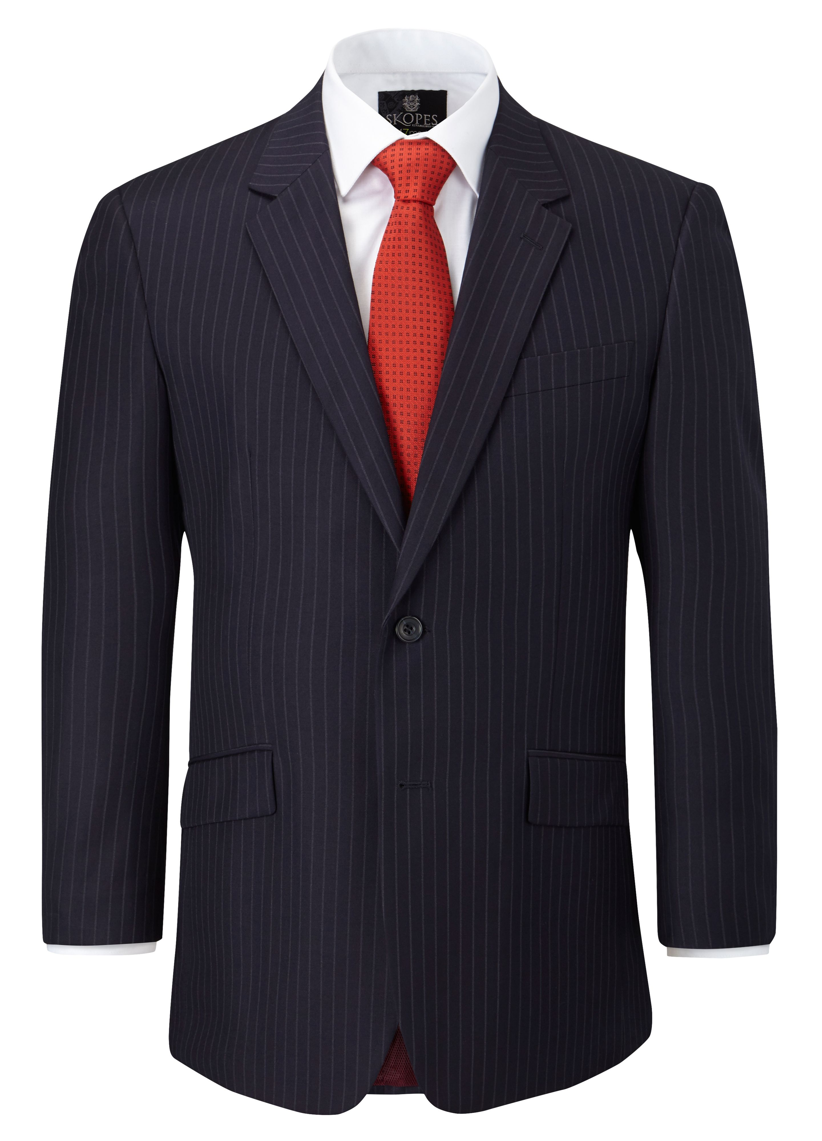 Poole stripe single breasted suit jacket