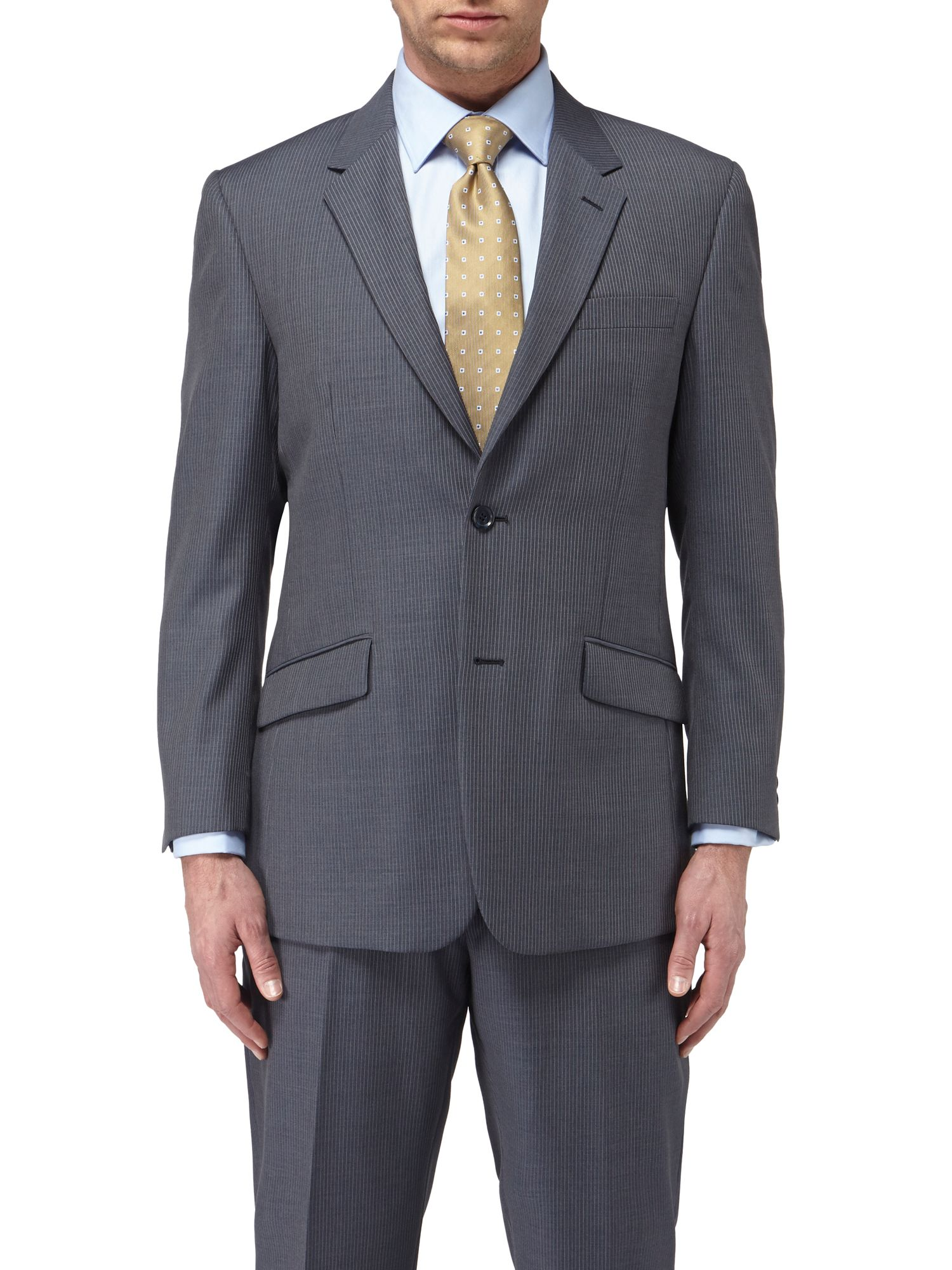 Woburn stripe single breasted suit jacket