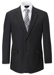 Tring stripe single breasted suit jacket