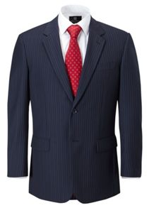 Didcot stripe single breasted suit jacket